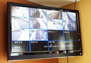 Surveillance cameras at Locust, NC storage center
